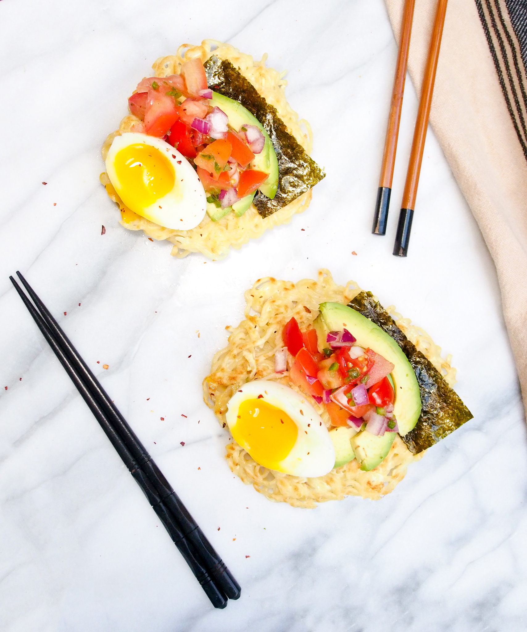 breakfast ramen toast