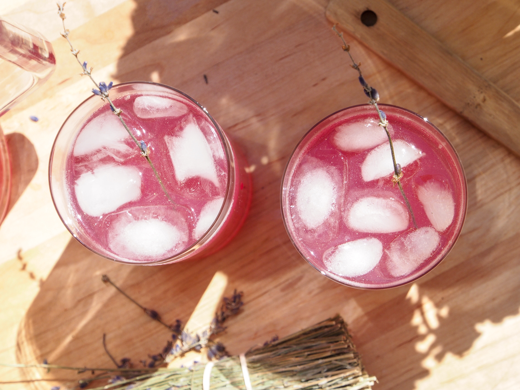 Lavender Soju Lemonade Cocktails