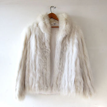 Saga Furs Silver Fox Coat