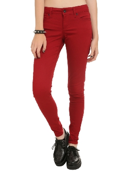 Forever 21 Red Skinny Jeans