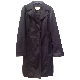 Michael Kors Black Cotton Trench Coat Ladies