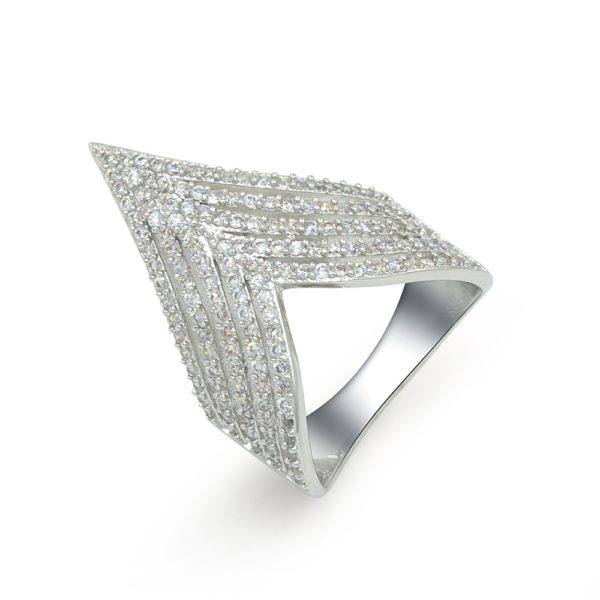Espere Jewelry Diamond Pave Wave Ring
