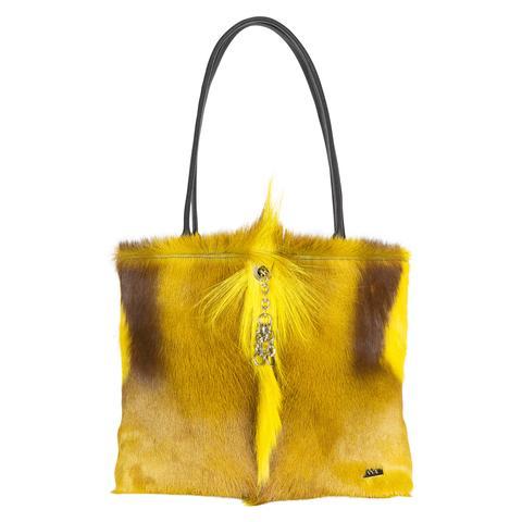 VVA Carlina Yellow Leather Handbag