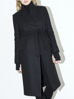Assembly New York Standard Black Belt Coat