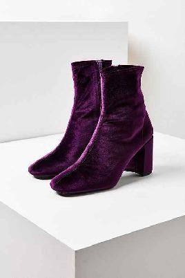 Ego Official Velvet Boots - Purple