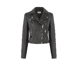 Dress Lily Black Leather Biker Jacket