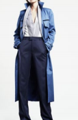 Karoline Lang Trench with Double Collar