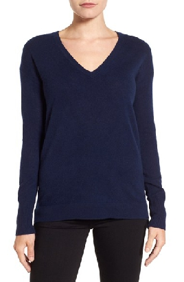 Halogen V-Neck Sweater
