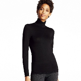 Uniqlo HeatTech Turtleneck Black