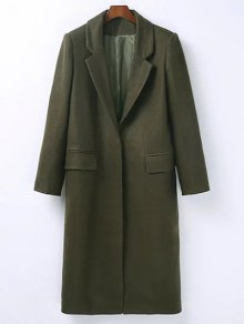 Zaful Army Green Wool Blend Masculine Coat