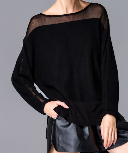 VIPME KNITTING TOP BLACK