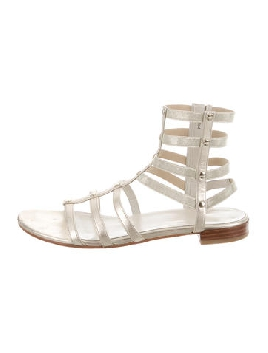 STUART WEITZMAN METALLIC GLADIATOR SANDALS
