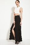 FOREVER 21 HIGH SLIT BLACK SKIRT