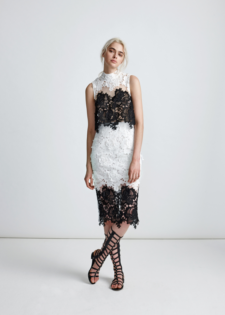 Echtego Black and White Lace Dress