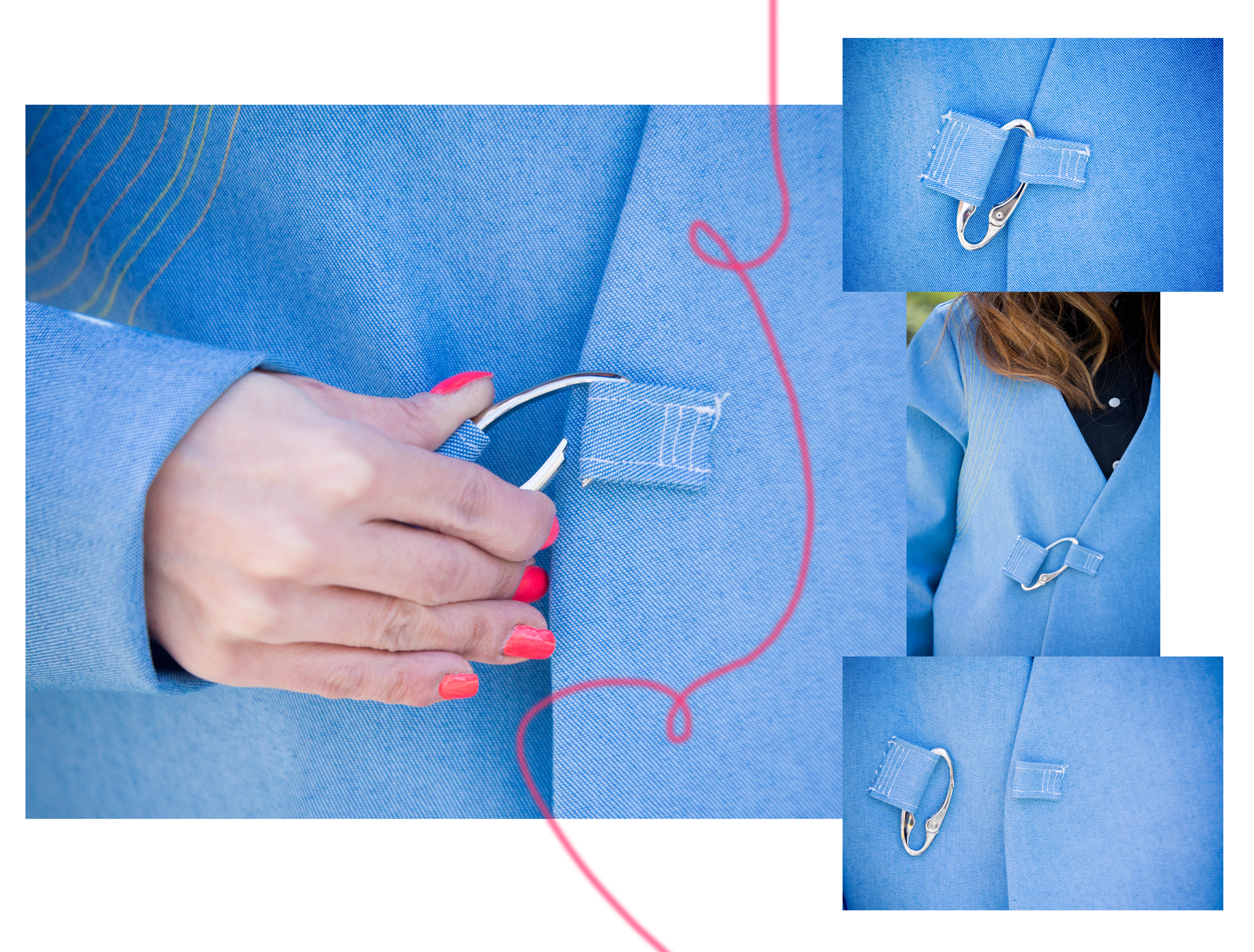 Rhoda Wong Baby Blue Structural Jacket