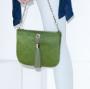 VVA Ivy Calf Green Pouch Handbag