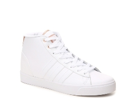 Women's adidas NEO Cloudfoam Daily QT High-Top Sneaker - White