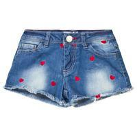 Yeah Bunny Heart Denim Shorts