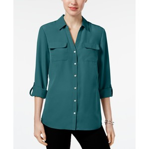 Avanzara–b House of Kimberly Teal Blouse Vintage