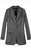 H&M Long Grey Suit Jacket