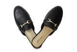 Peridot Boutique Loafer Sliders Black