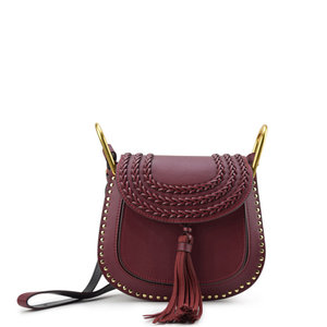 Closet Access Aria Mini Saddle Bag Maroon