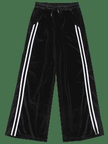 Zaful Side Stripe Velvet Pants