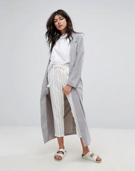 Native Youth Gray Longline Coat