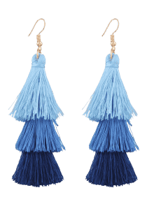 Zaful Tassel Layered Drop Earrings