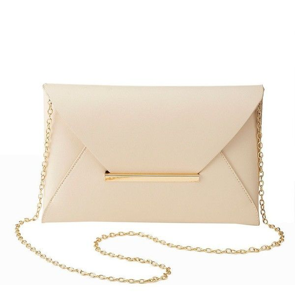 Forever 21 Cream Patent Clutch Bag
