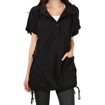Mad-Style Black Charlie Blouse