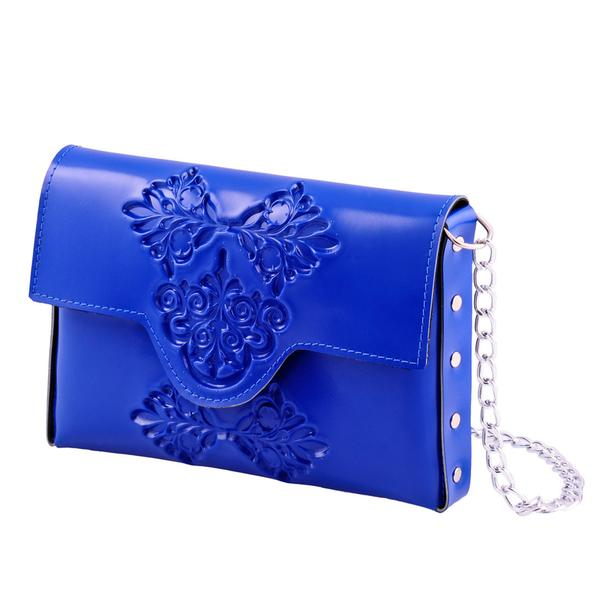 MeDusa Blue Mini Clutch Crossbody Bag