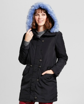 WHO WHAT WEAR™ COLLECTION FAUX FUR TRIM PARKA