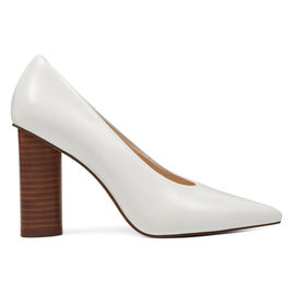 Nine West Yemetra White Pointy Toe Pumps