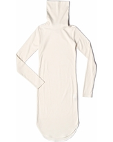 SAKU New York - High Neck Woven Dress Ivory