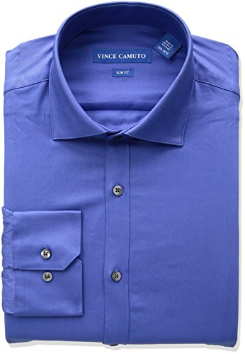 ADD TO FAVORITES Vince Camuto Men's Slim Fit Blue Dress Shirt, Cerulean