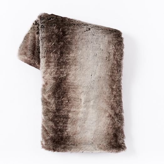 West Elm Faux Fur Throw
