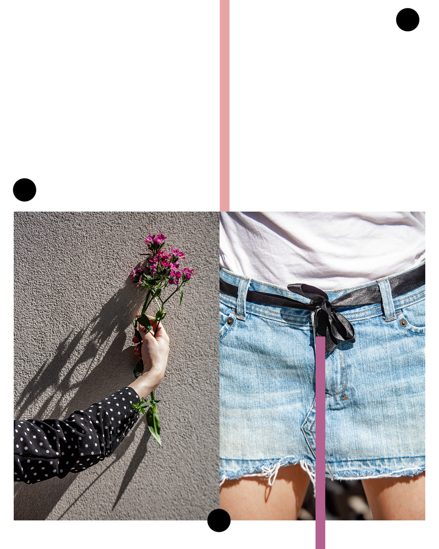 Graphic Design and Fashion Flowers mixed with Polka Dots