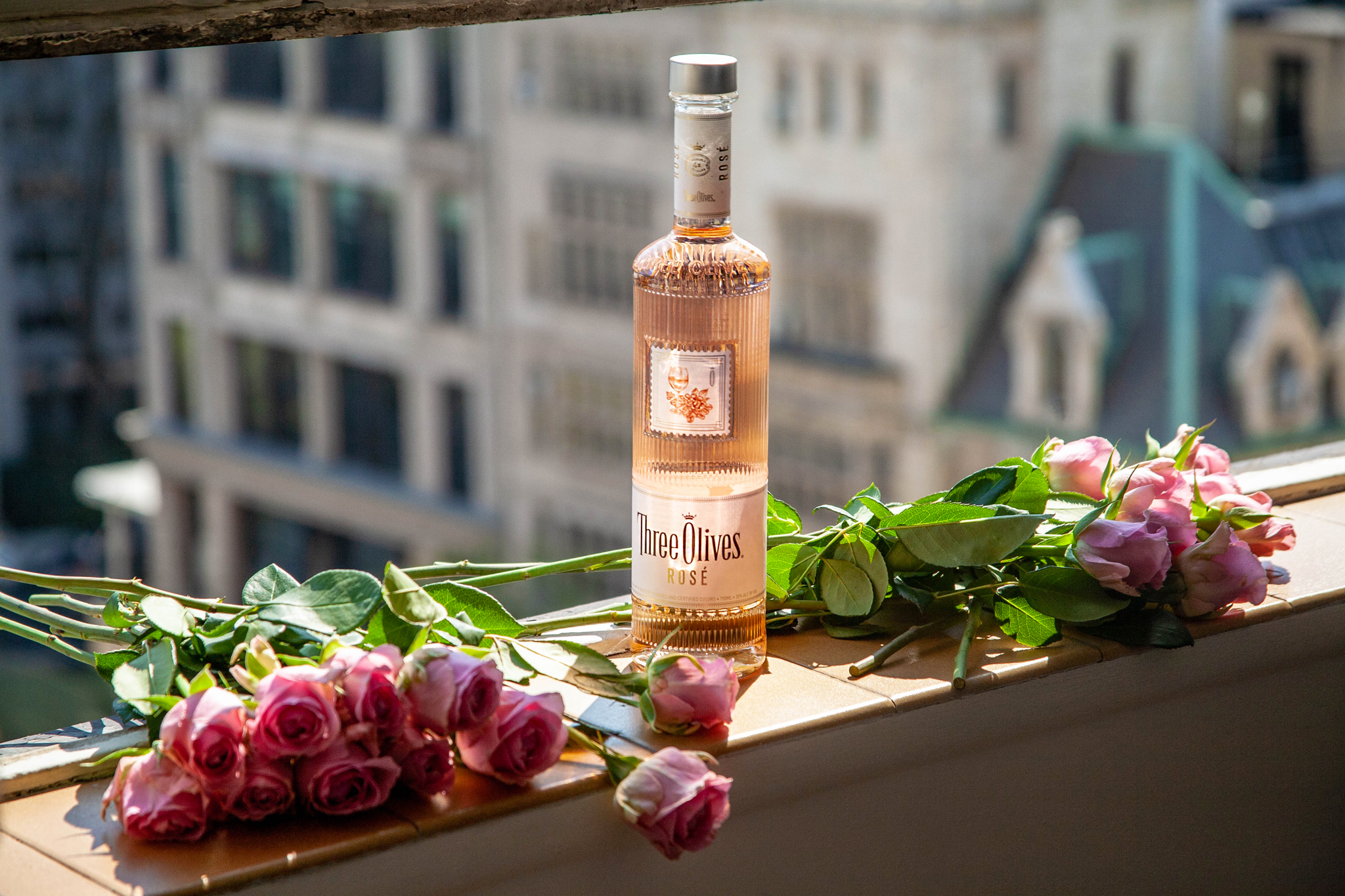 Three Olive Rosé vodka