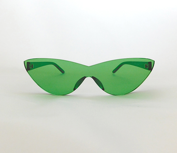 Green cateye sunnies
