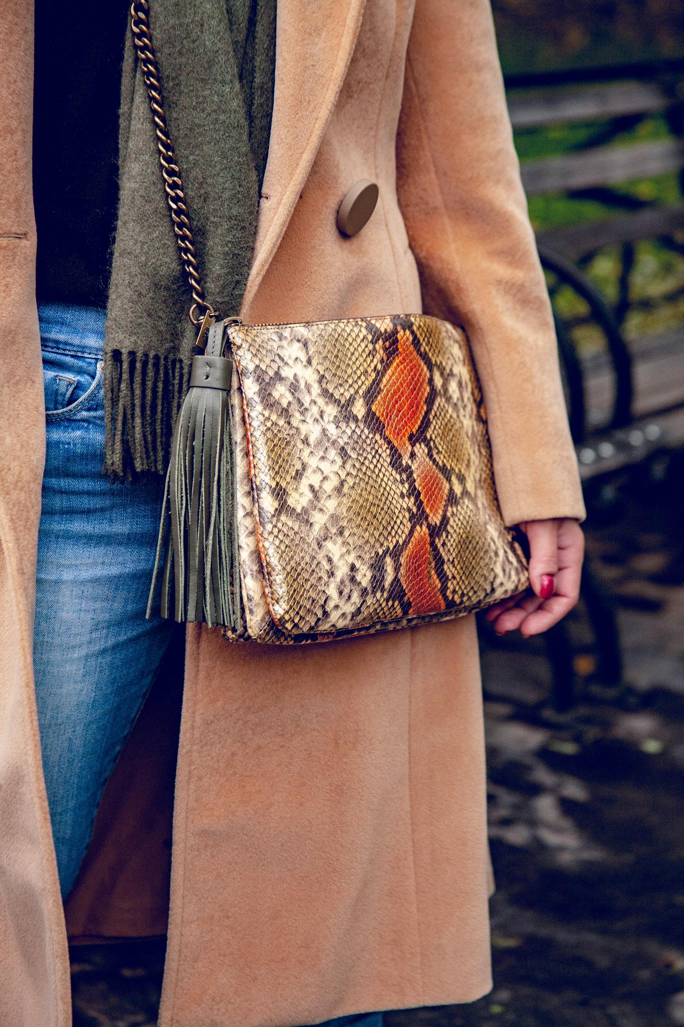 Taupe Python Bag