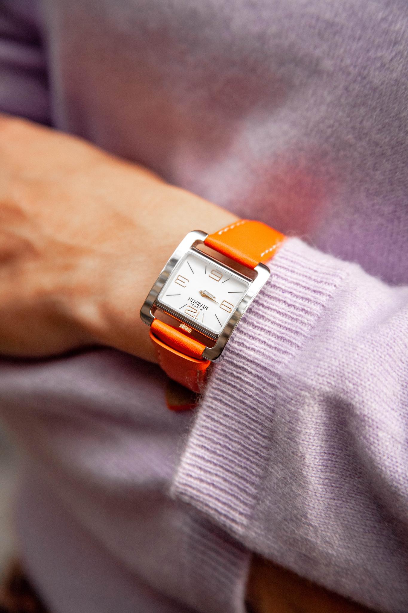 Women's orange watch
