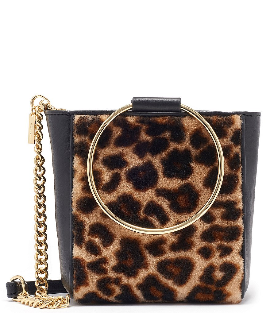 Leopard Mini bucket bag