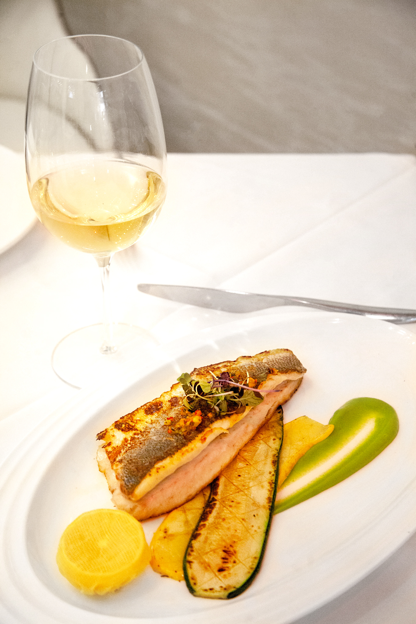Branzino with vegetables