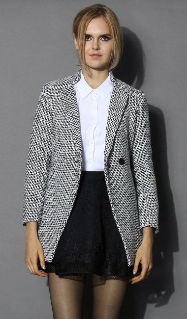 Chicwish tweed blazer