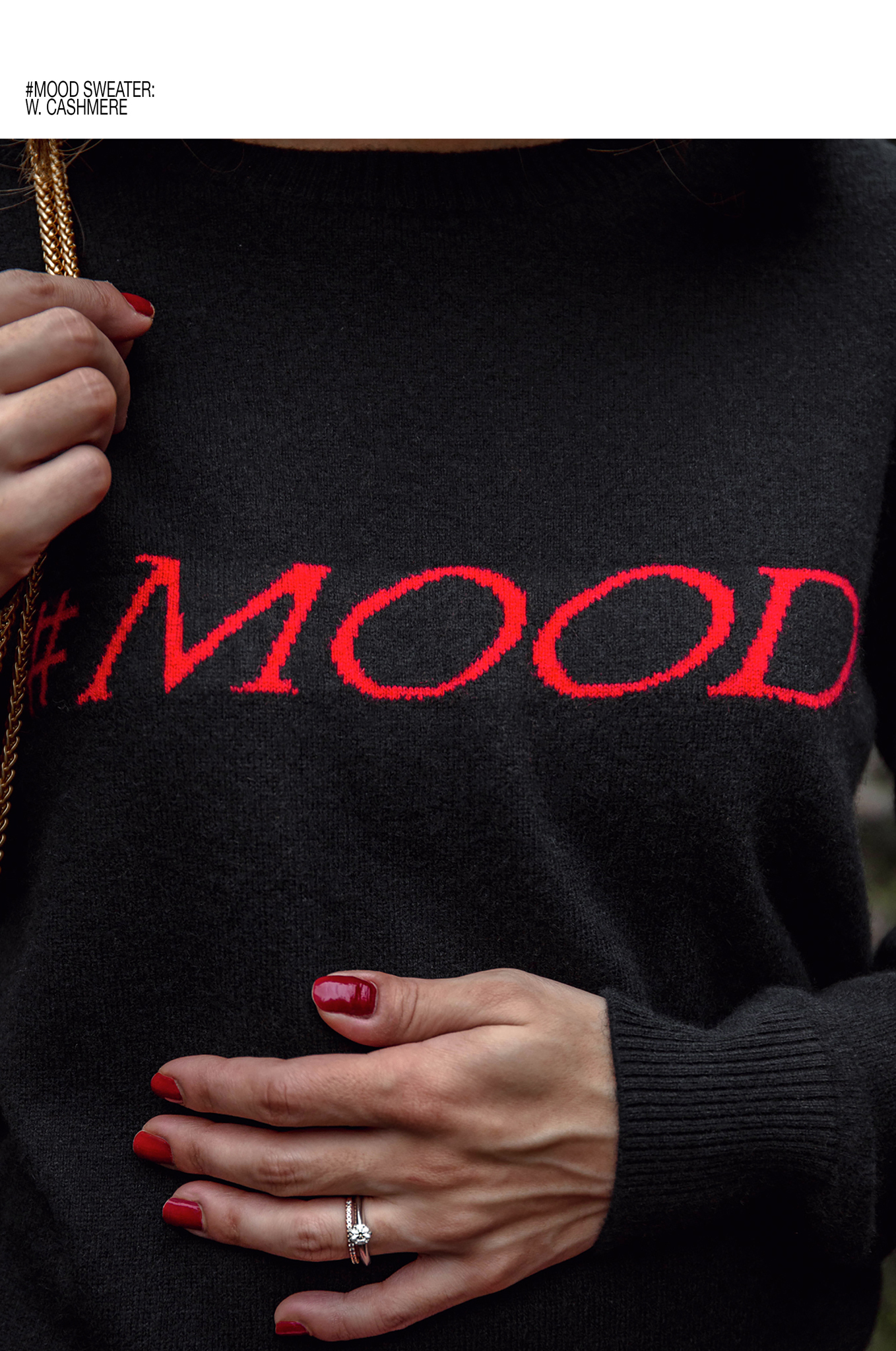 #Mood Black sweater