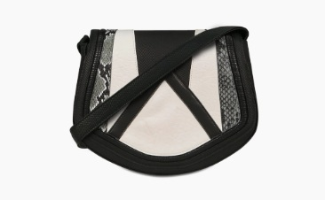 Black white purse
