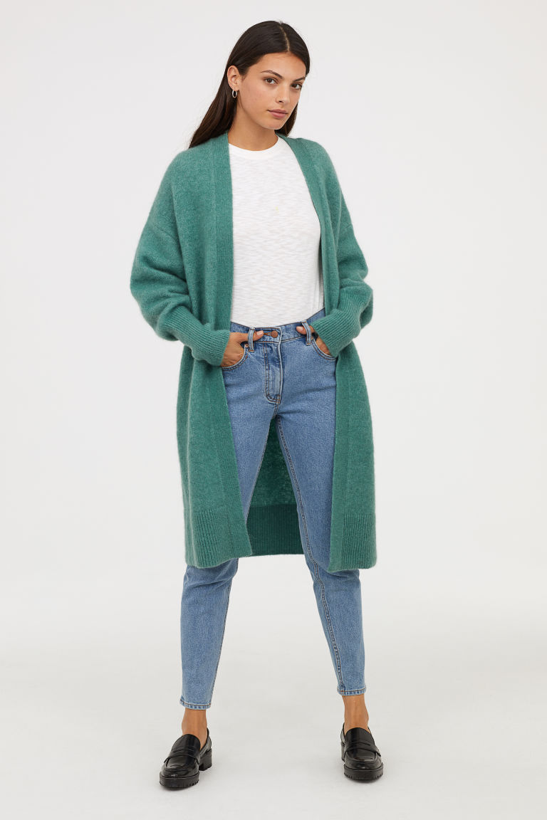 H&M green cardigan
