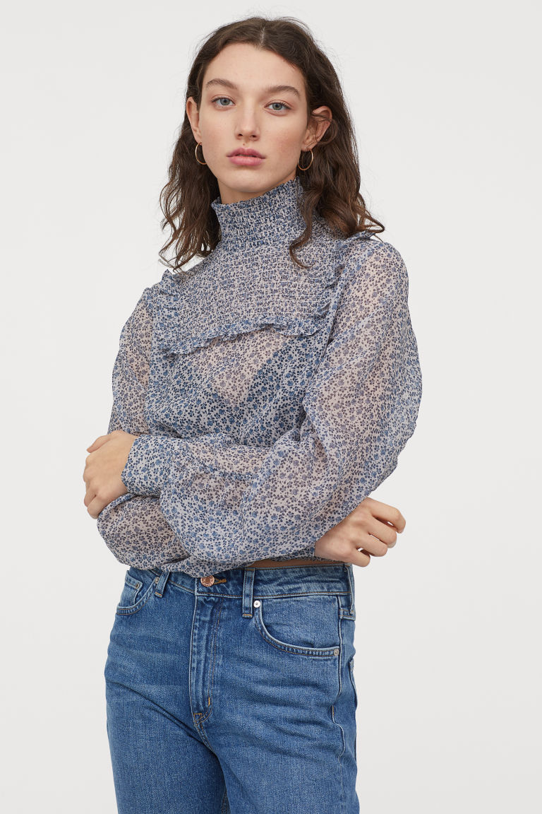 H&M smocked blouse
