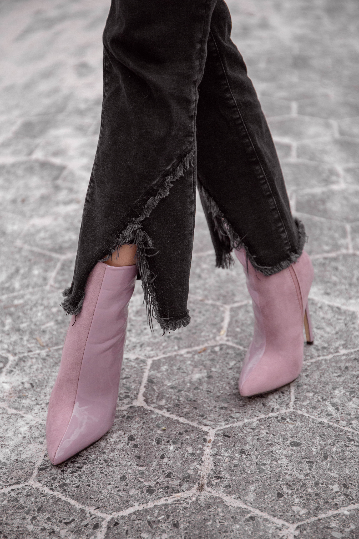 Lavender ankle boots